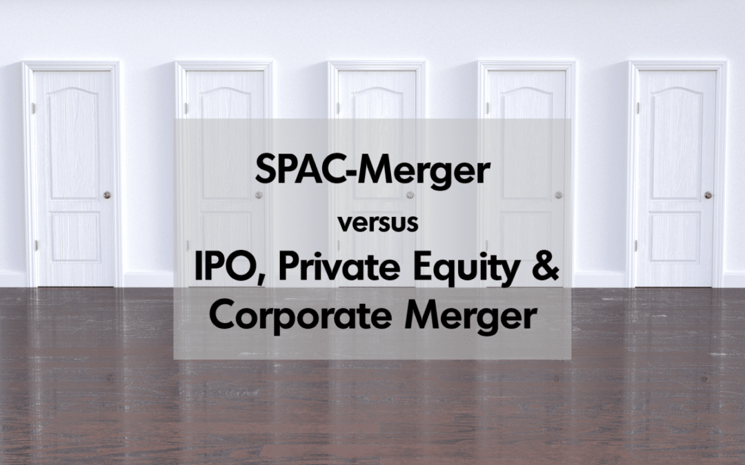SPAC-Merger vs. IPO, Private Equity und Corporate Merger